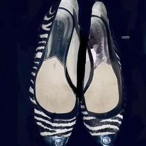 Michael Kors Shoes - Michael Kors calf hair leather flats